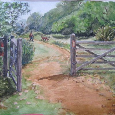Walking the Dog on Ham Hill - Elizabeth Webster