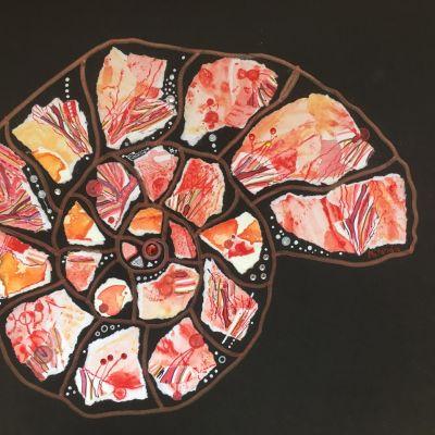 Coral Ammonite - Merander Pender