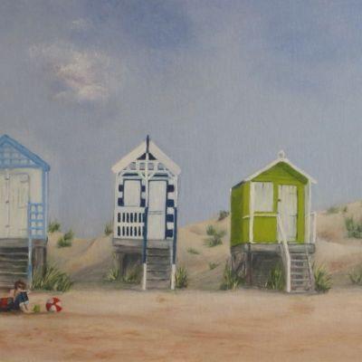 Beach Huts  - Jean Linford