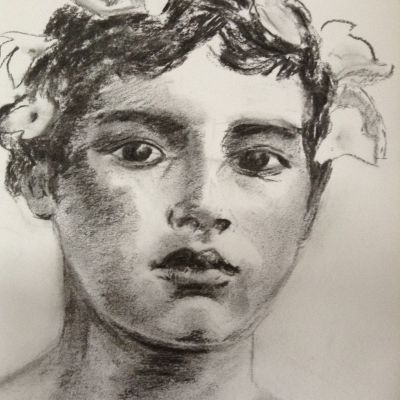 Sicillian Boy  - Kate Ansell (charcoal)