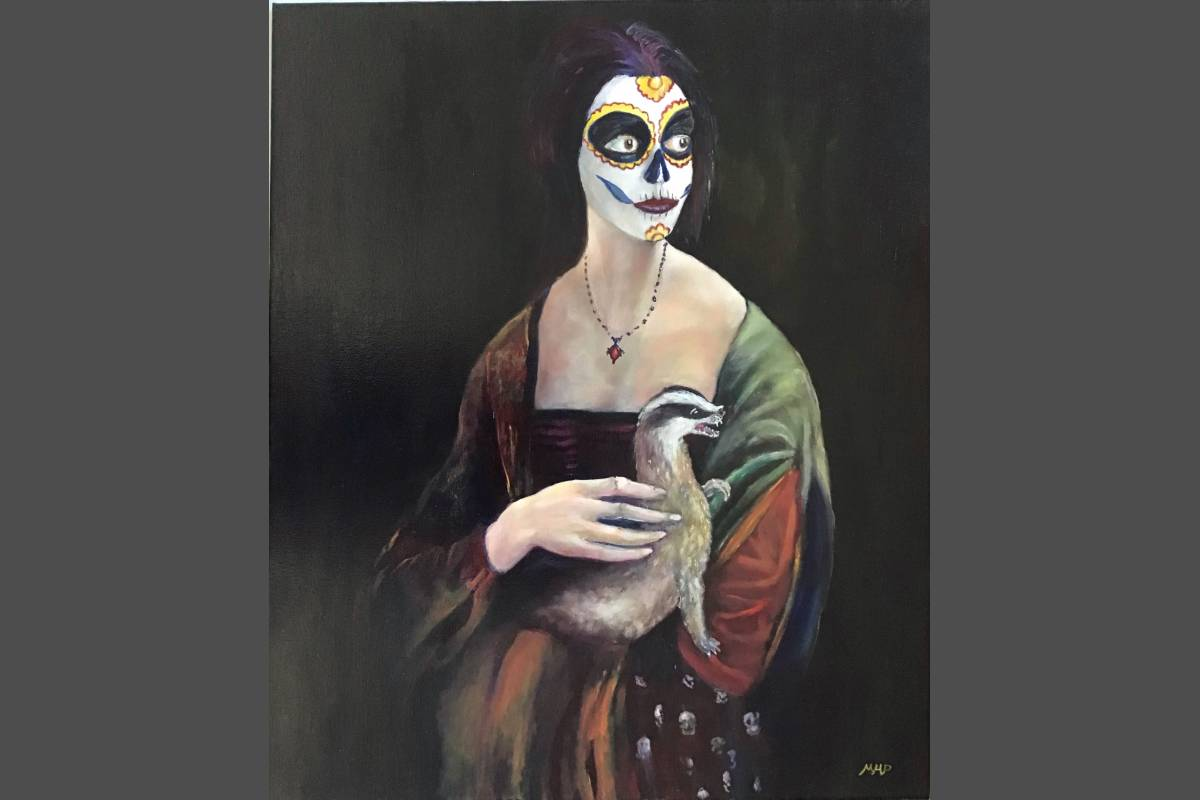 Lady With a Badger - Mark Pender