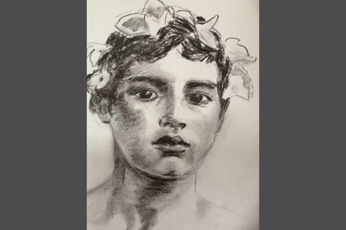 Sicillian Boy  - Kate Ansell (charcoal)