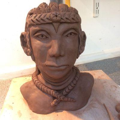 Aztec Woman  in Earthenware - Yvonne Shayler