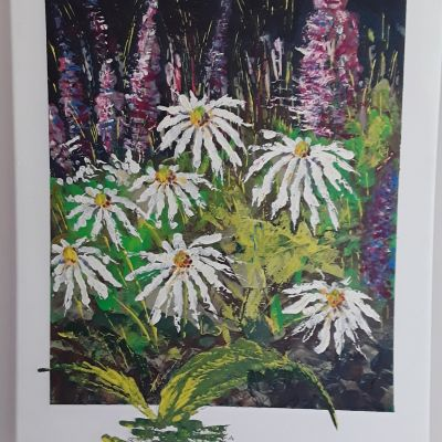 White Flowers  - Louise Green